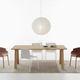 table de travail contemporaine / en bois / avec piètement en bois / rectangulaire