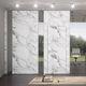cloison séparatrice amovible / en verre / en tissu / en marbre
