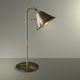 lampe de table / classique / en métal / dorée