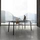 table contemporaine / en verre / en HPL / en mélaminé