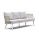 canapé contemporain / de jardin / en tissu / en aluminium