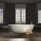 baignoire ovale / à poser / en CristalPlant® / blanche