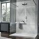 receveur de douche rectangulaire / à poser / en pierre