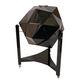 meuble bar Art Déco / en bois laqué / en cuir / noir