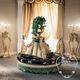 canapé rond / de style / en tissu / pour hôtel