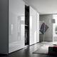armoire contemporaine / en bois laqué / en chêne / à porte coulissante
