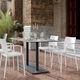 chaise contemporaine / avec accoudoirs / en polypropylène / en fibre de verre