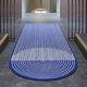 tapis contemporain / à rayures / en laine / en coton