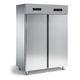 réfrigérateur congélateur professionnel / à double porte / en inox / avec congélateur en haut