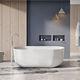 baignoire à poser / ovale / en pierre