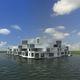 bâtiment préfabriqué / flottant / pour logement collectif / contemporain