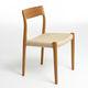 chaise design scandinave / tapissée / en chêne / en noyer
