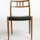 chaise design scandinave / en chêne / en noyer / en teck