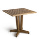 table contemporaine / en bois / carrée / pour établissement public