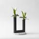 vase contemporain / en métal peint / en terrazzo