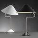 lampe de table / contemporaine / en aluminium peint / en acier inoxydable brossé