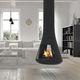 cheminée à bois / contemporaine / à foyer fermé / double face