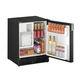 réfrigérateur pour bateau / sous plan / noir / avec distributeur de glaçons