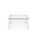 table basse contemporaine / en verre / avec piètement en métal / carrée