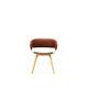 chaise visiteur contemporaine / avec accoudoirs / tapissée / pivotante