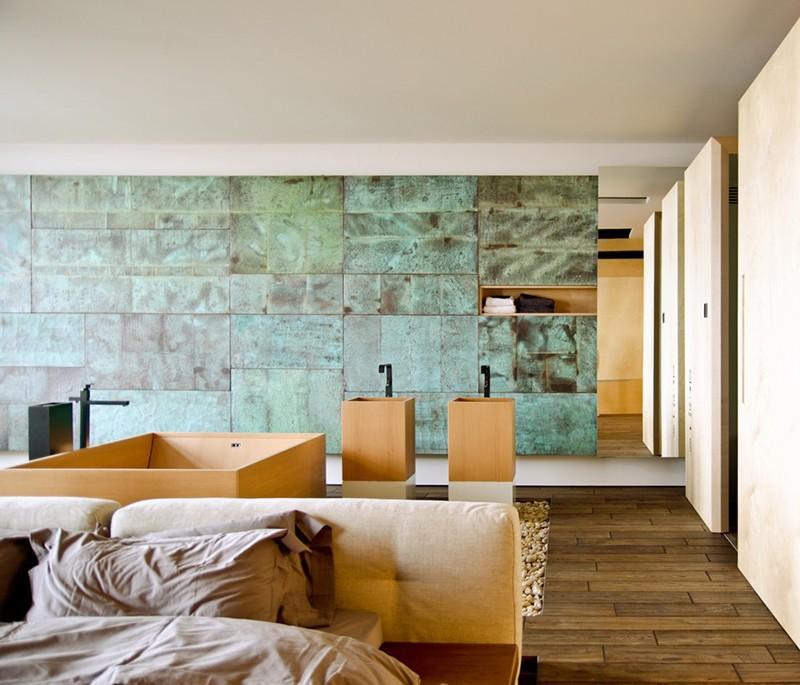 L\'affaire de combinaison de chambre à coucher/salle de bains ...