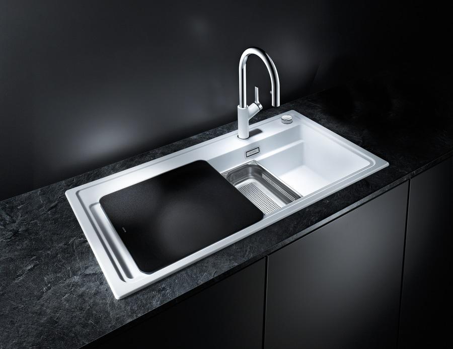 /évier de cuisine /évier de granit en SILGRANIT PuraDur marron 1/pi/èce 519270 BLANCO zenar XL 6/S /à vapeur Plus
