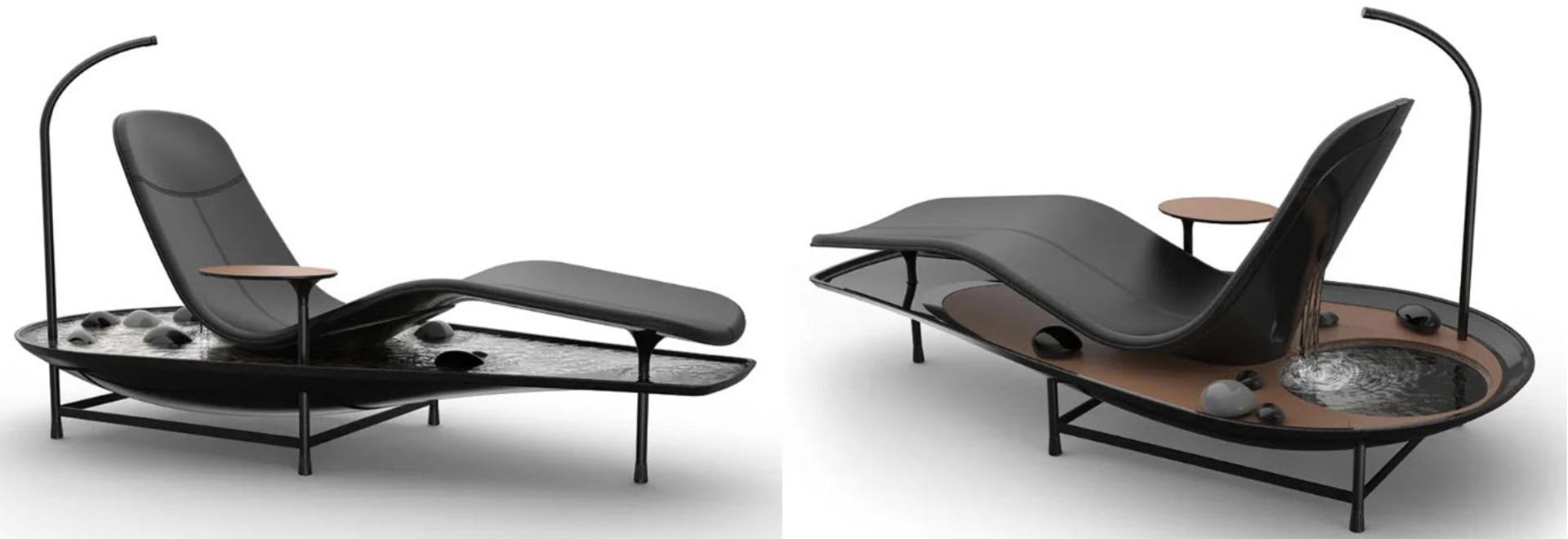 Allongez-vous et détendez-vous dans votre propre jardin zen grâce au concept de chaise longue Dhyan
