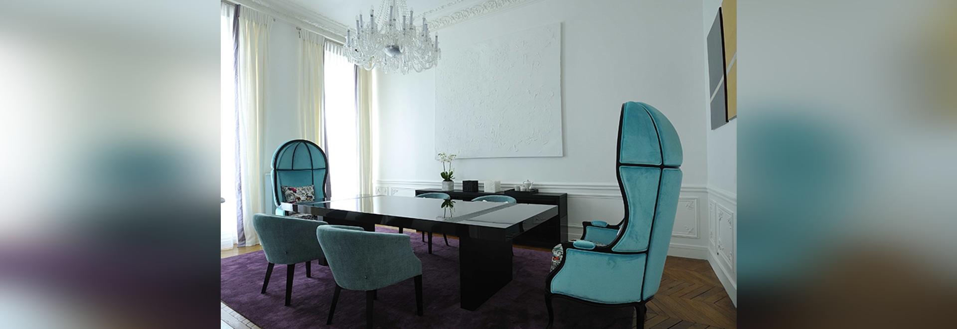 Art Chic Apartment à Paris a conçu par conception de PFB et meublé par BRABBU
