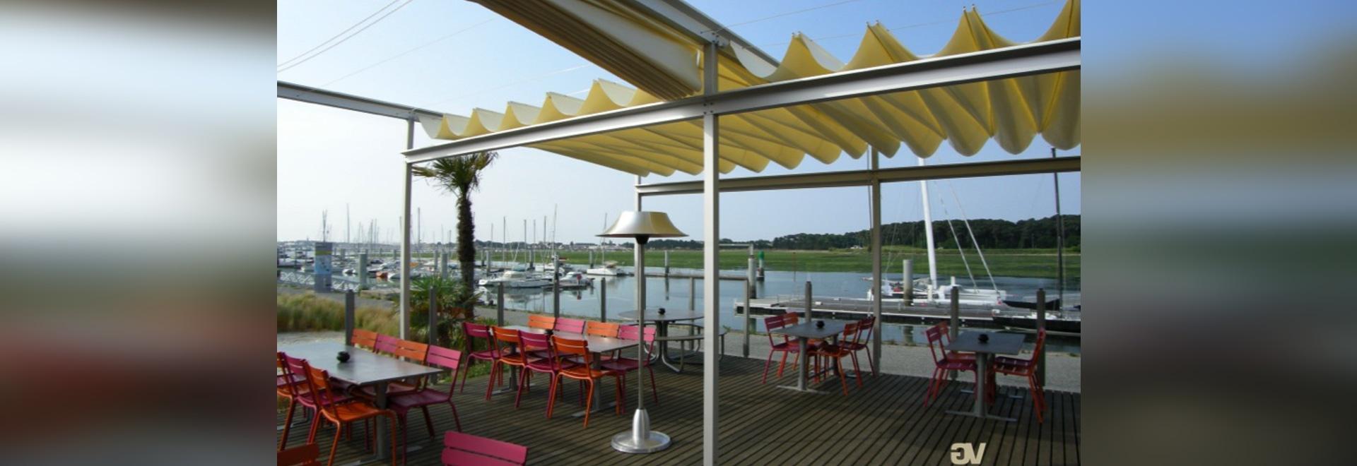 Couverture de terrasse en toile rétractable - Bordeaux ...