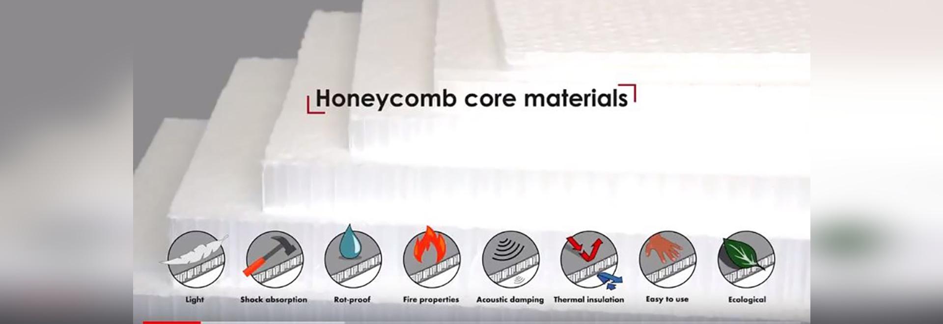 Découvrez les produits, les services, les applications avec des panneaux en nid d'abeilles