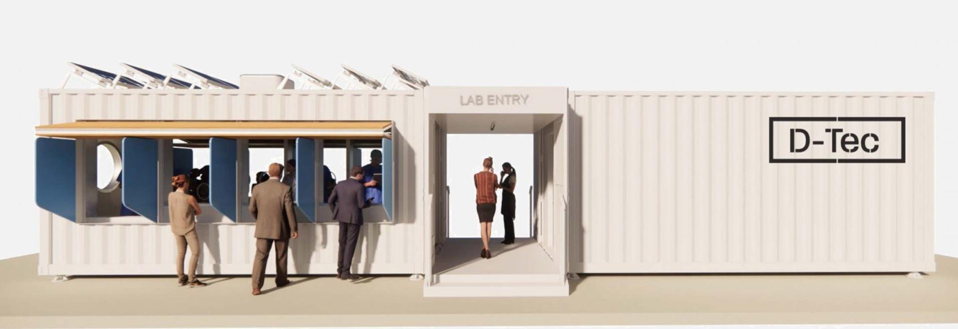 Grimshaw conçoit une gamme de centres de dépistage des coronavirus dans les conteneurs d'expédition