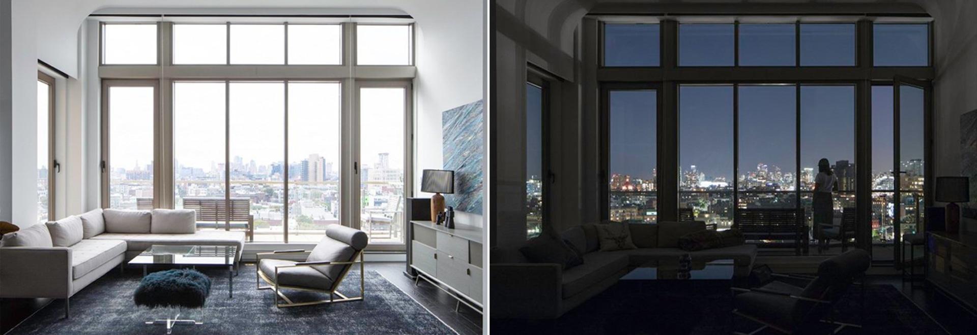 INABA courbe doucement le plafond de l'appartement'williamsburg penthouse' à brooklyn
