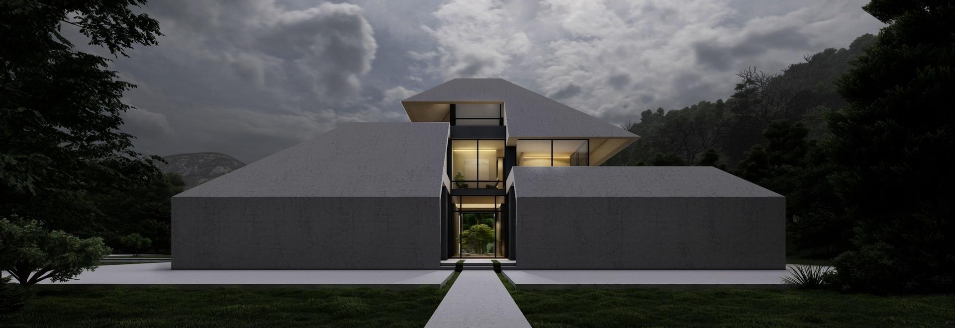 """La région humide et pluvieuse de l'Iran est à l'origine de la villa """"gilak"""" à pignon de Team Design Group"""