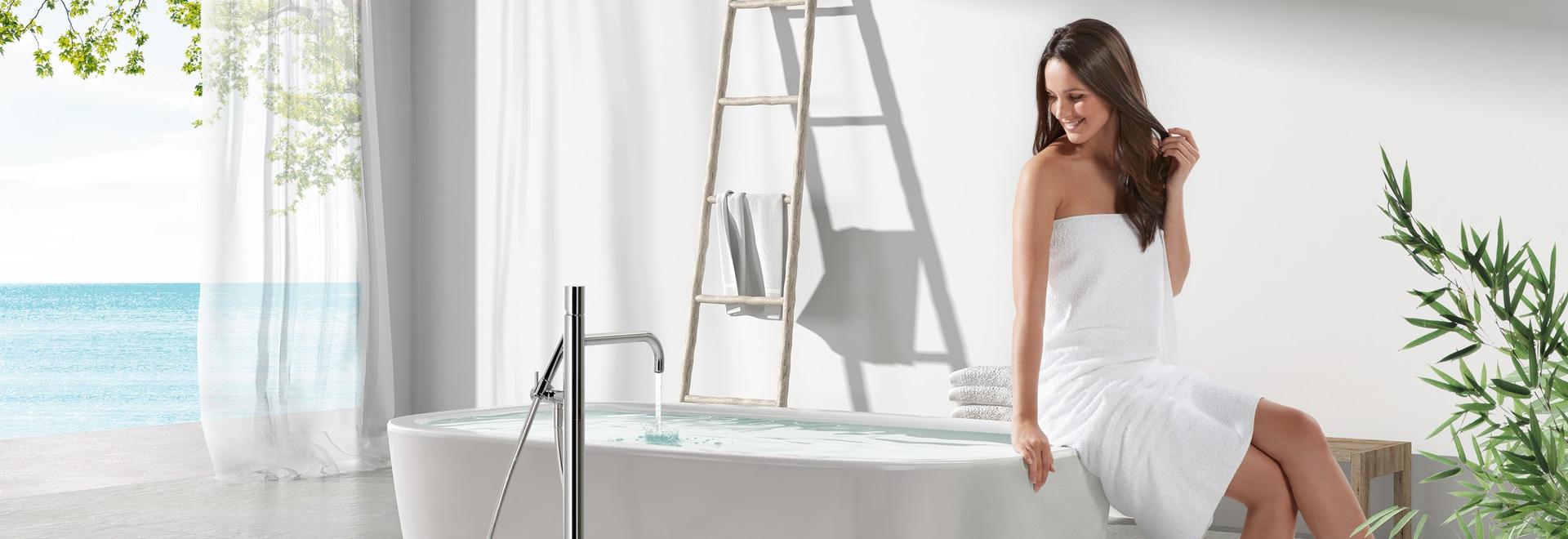 Des robinets sur pied conçus avec la tête