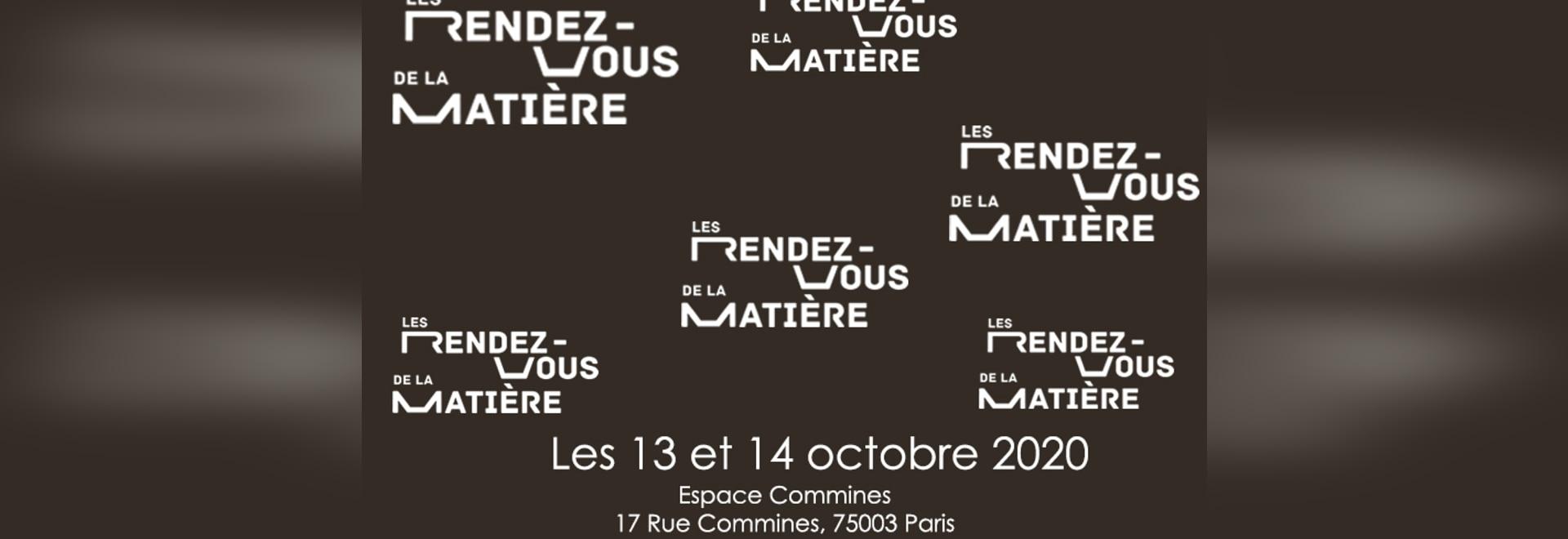 Salon RDV de la matière du 13 au 14 octobre 2019 à Milan