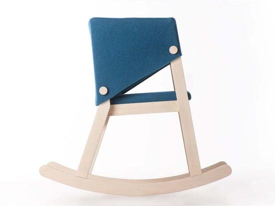 Chaise de basculage d'Ivetta par Giancarlo Cutello pour Formabilio