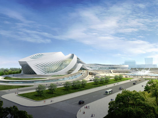 Nouveau centre d'art de ville de siècle par Zaha Hadid