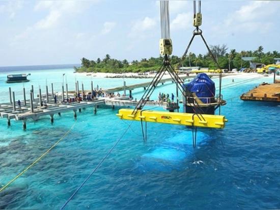 Monde ? le plus grand restaurant sous-marin de s installé en Maldives
