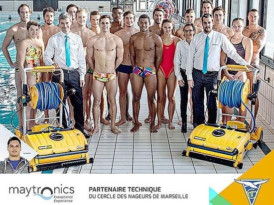 Maytronics signe un partenariat avec le Cercle des Nageurs de Marseille.