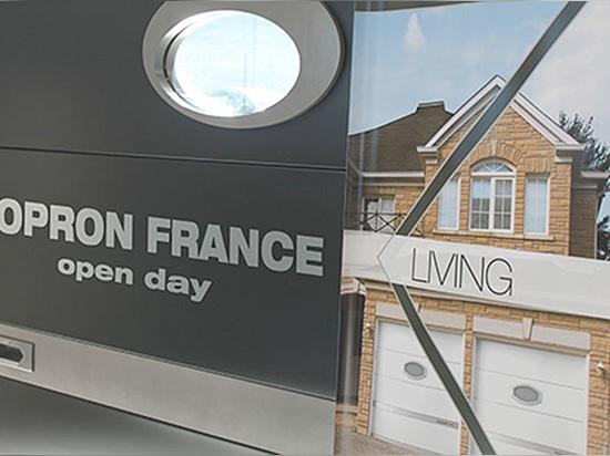 A Kopron France, une journée porte ouverte d''inauguration de la nouvelle production locale des portes résidentielles.