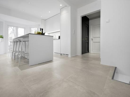 L'élégance du grès cérame Made in Italy de Ceramiche Keope  décore un  projet résidentiel raffiné en Suède