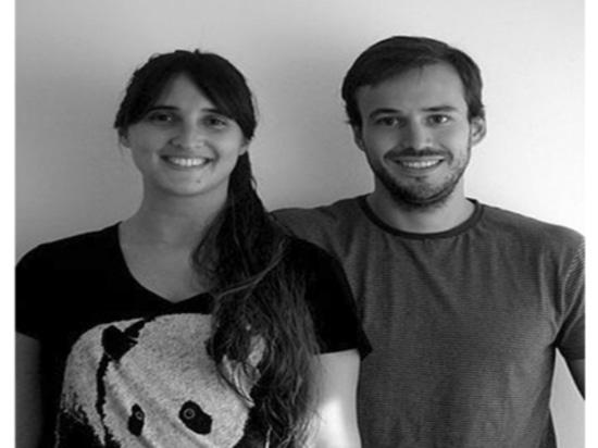 Couples Andrea Kac et Herman Schenck, fondateurs de concepteur de studio d'Ambueblate