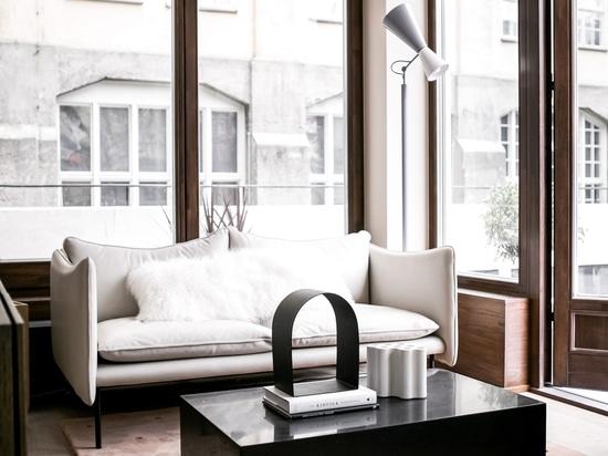 Appartements de la ville du studio de conception de note de petits sont conçus pour avoir une vie sociale