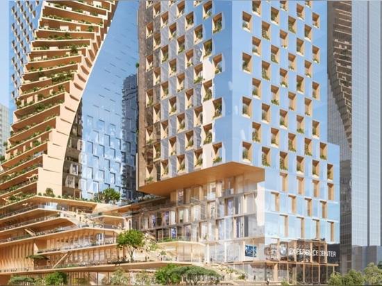UNStudio dévoile tordre la proposition ayant beaucoup d'étages «d'épine de vert» pour Melbourne