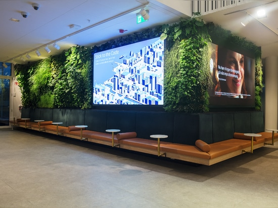 Jardin vertical au siège social de Telenor