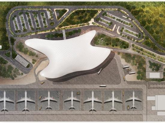 les fuksas de studio indique la conception de gain pour le nouvel aéroport de gelendzhik en Russie