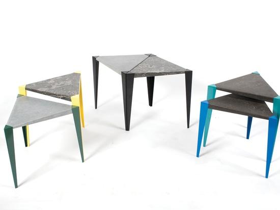 Adaptable peut seul être employé comme table latérale ou comme faisceau pour former une plus grande table basse.