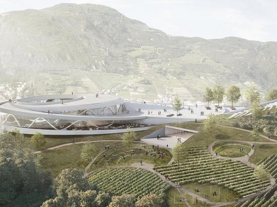 le snøhetta propose le quart de musée de sommet de montagne pour une ville en Italie du nord
