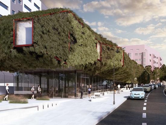 Vaisseau spatial vert : Une bibliothèque végétale débarque à Villaverde, à Madrid