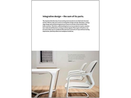 Impressions du nouveau catalogue Wilkhahn 2019/2020 : depuis les racines jusqu'à l'aménagement d'environnements de travail modernes.